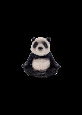 """Cute Yoga Panda Meditating in Lotus Pose Figurine 2.5""""H"""