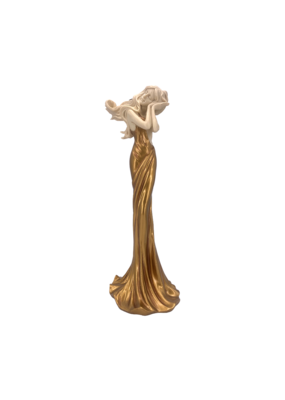 """Art Nouveau - Lady Napping Candle Holder 12.5""""H"""