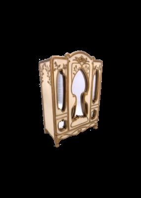 "Art Nouveau - Armoire Style Jewelry Box 8""H"
