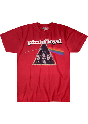 Pink Floyd - Dark Side Retro Red T-Shirt