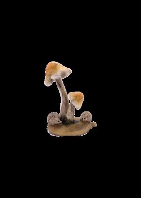 """Mini Hedgehogs with Mushrooms Figurine 2.25""""H"""