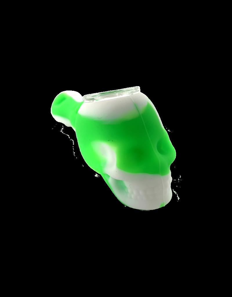 "4.5"" Silicone Skull Hand Pipe"