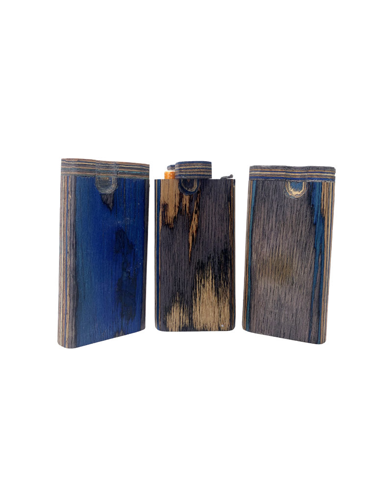 """4"""" Colorful Stained Wood Twist Top Dugout"""