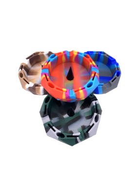 Diamond Cut Silicone Debowler Style Ashtray