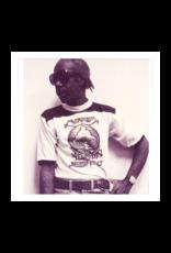 Mushroom Vintage Ringer T-Shirt Grey and Black