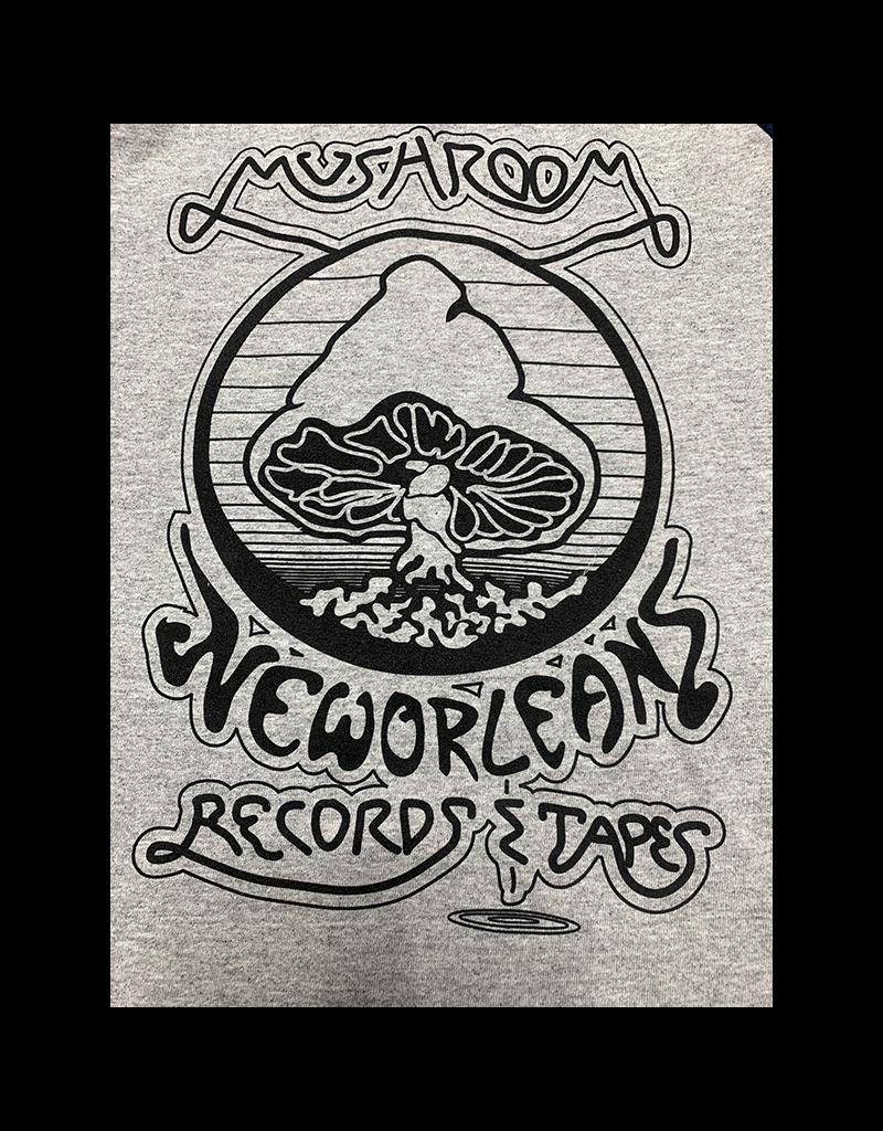 Mushroom Vintage Raglan Youth T-Shirt Grey and Navy