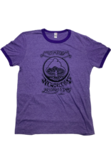 Mushroom Vintage Ringer T-Shirt Purple