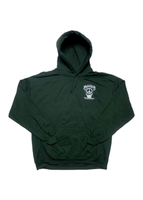 Mushroom Hand Of Peace Pullover Hoodie Forest Green
