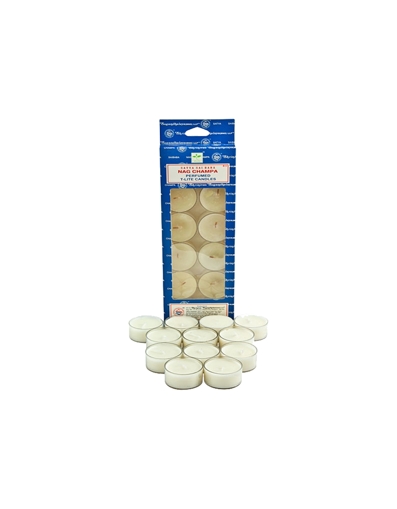 Satya Nag Champa Tea Light Candles 12 Pack