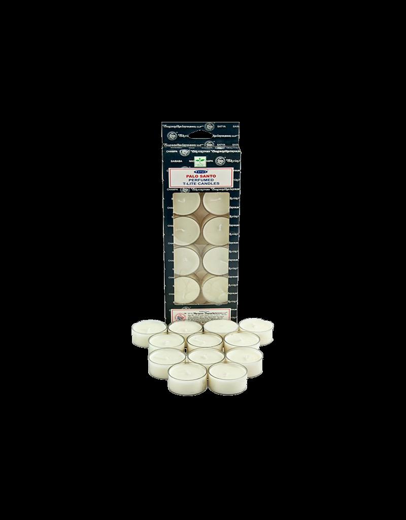 Satya Palo Santo Tea Light Candles 12 Pack