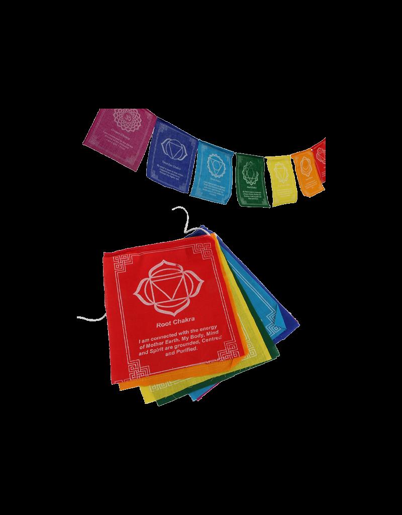 Chakra Prayer Flags 7 Count
