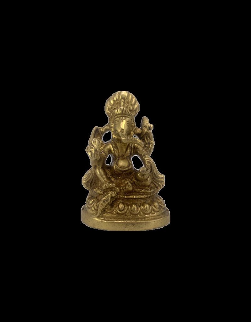 "Lord Ganesh Brass Statue 2.5""H"