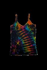 Tie Dye Lycra Tank Top Space Rainbow