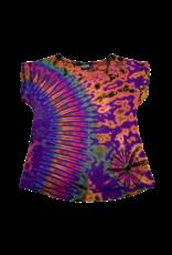 Tie Dye Lycra Top Rainbow Purp