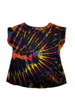 Tie Dye Lycra Top Space Rainbow