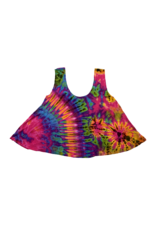 Tie Dye Lycra Dance Top Pink Rainbow
