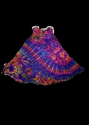 Tie Dye Renee Lycra Dress Rainbow Purp
