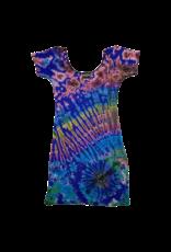 Tie Dye Lycra Club Dress Rainbow Sky