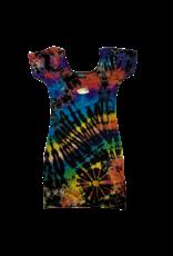 Tie Dye Lycra Club Dress Space Rainbow