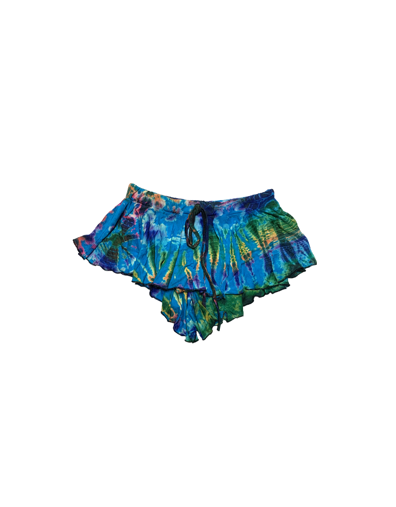 Tie Dye Samba Skirt Aqua Rainbow