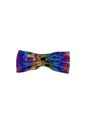 Tie Dye Lycra Tube Top Rainbow Purp