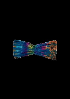Tie Dye Lycra Tube Top Aqua Rainbow