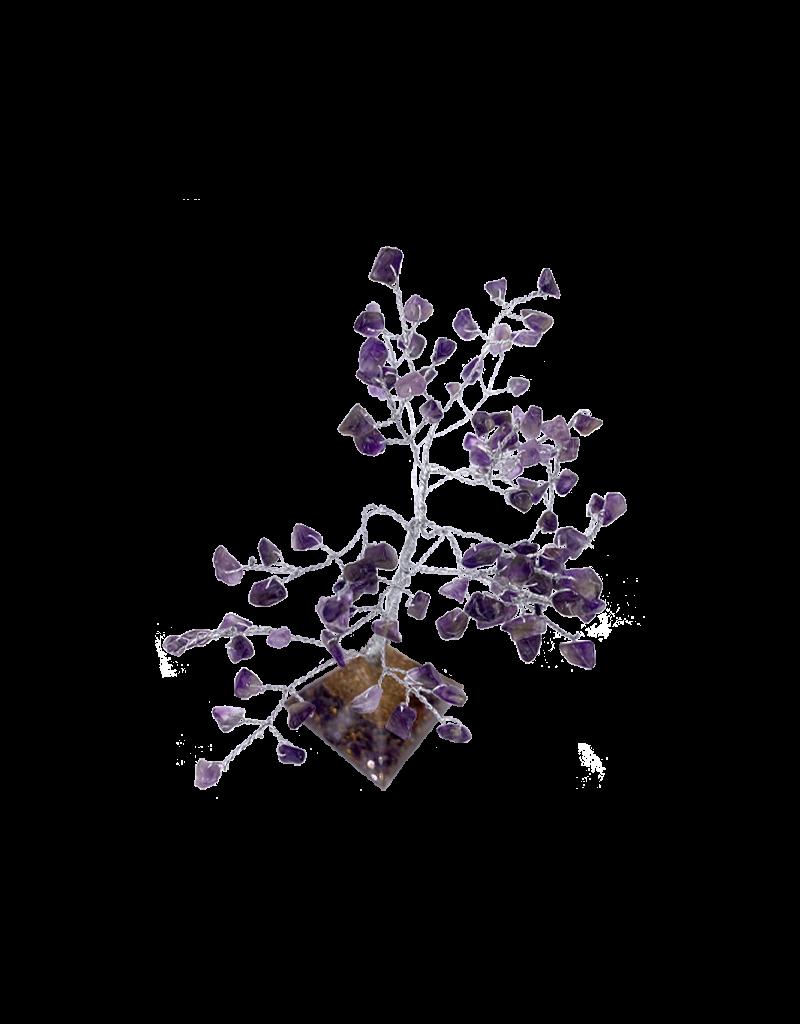 """Amethyst Gem Tree With Orgone Base 6""""H"""
