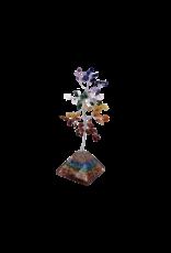 "Chakra 7 Stone Gem Tree With Orgone Base 8""H"