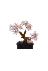 "Clear Quartz Bonsai Tree on Soapstone Base 5.5""H"