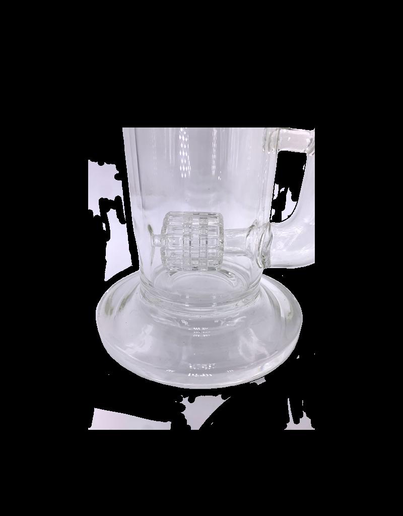 """14"""" Horizontal Barrel Matrix & Honey Comb Perc Water Pipe"""