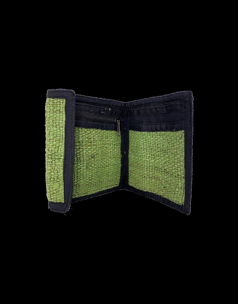 Velcro Tri-Fold Hemp Wallet