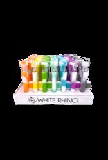 White Rhino Glow in The Dark Dabtainer Silicone Straw