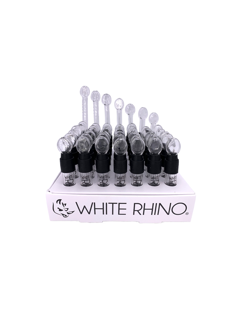 White Rhino Glass Blunt Slider