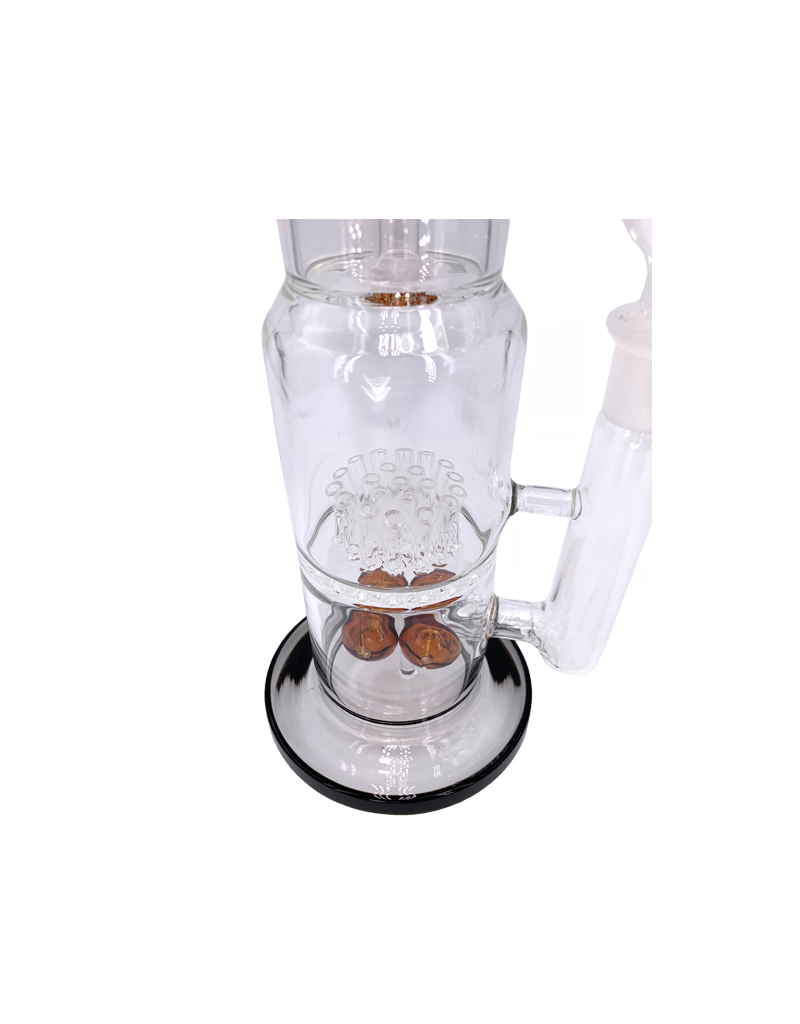"""15"""" Button Perc Straight Base Water Pipe"""