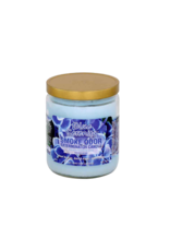 Smoke Odor Blue Serenity Candle