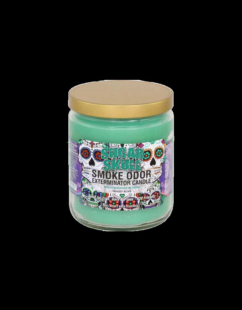 Smoke Odor Sugar Skull Candle