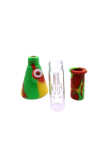 """11"""" Silicone Beaker Water Pipe With Removable Showerhead Perc"""