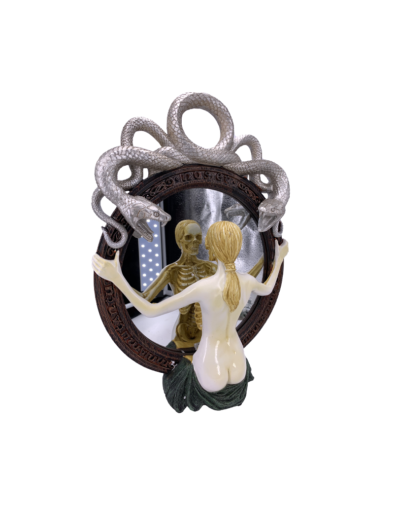 """Snake Lady Speculum Wall Mirror 16""""H"""
