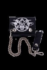 Bike Chain Skull Leather Tri-Fold Chain Wallet