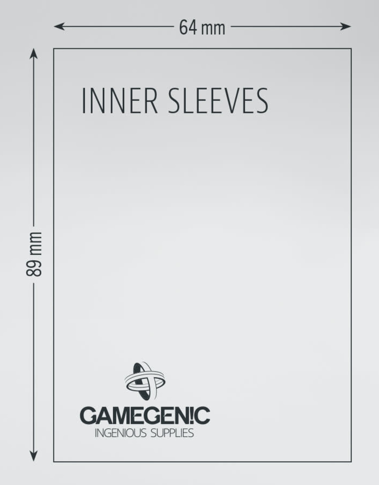 Inner Sleeves: Standard Card Game (100) Clear