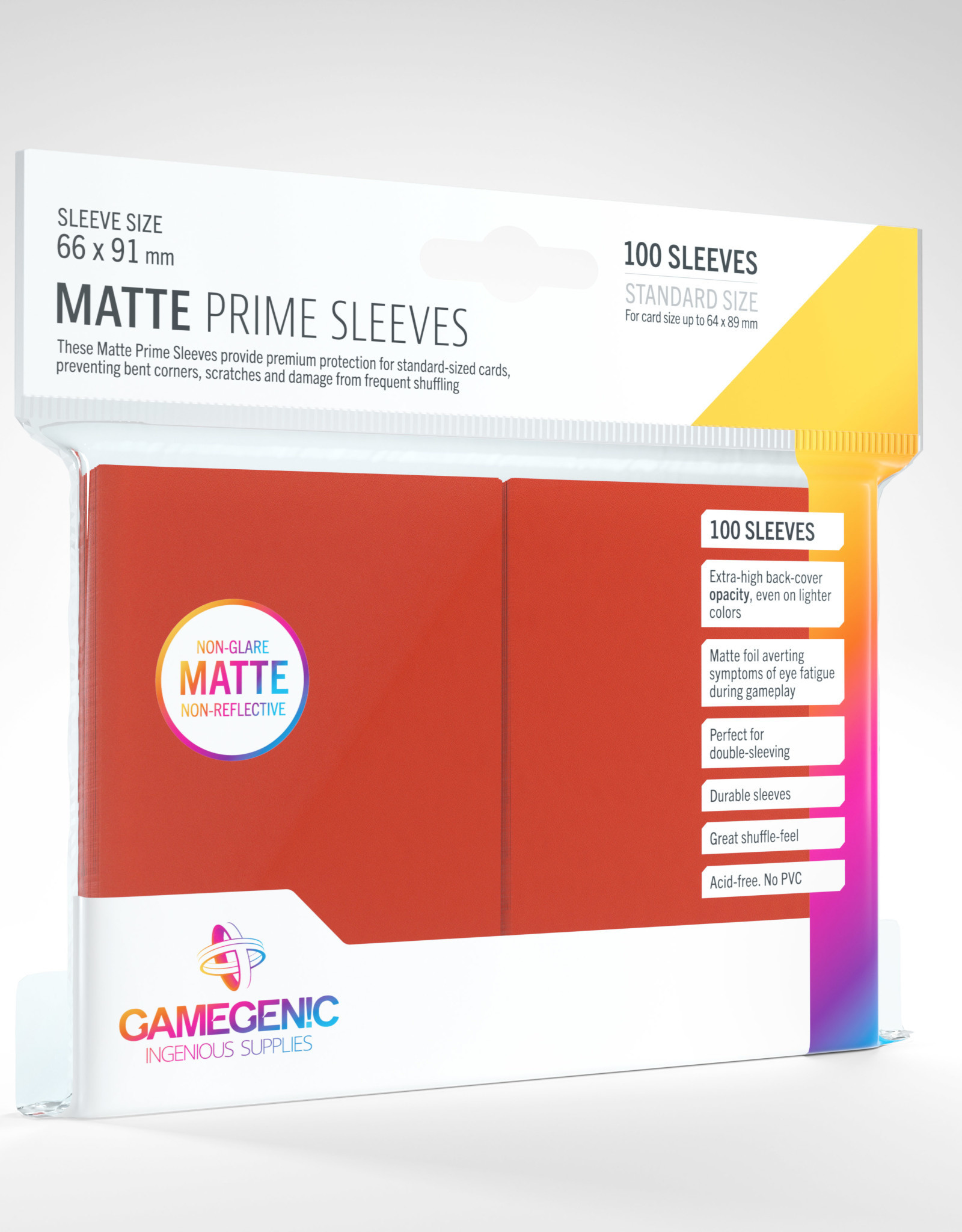 Sleeves: Matte Prime (100) Red