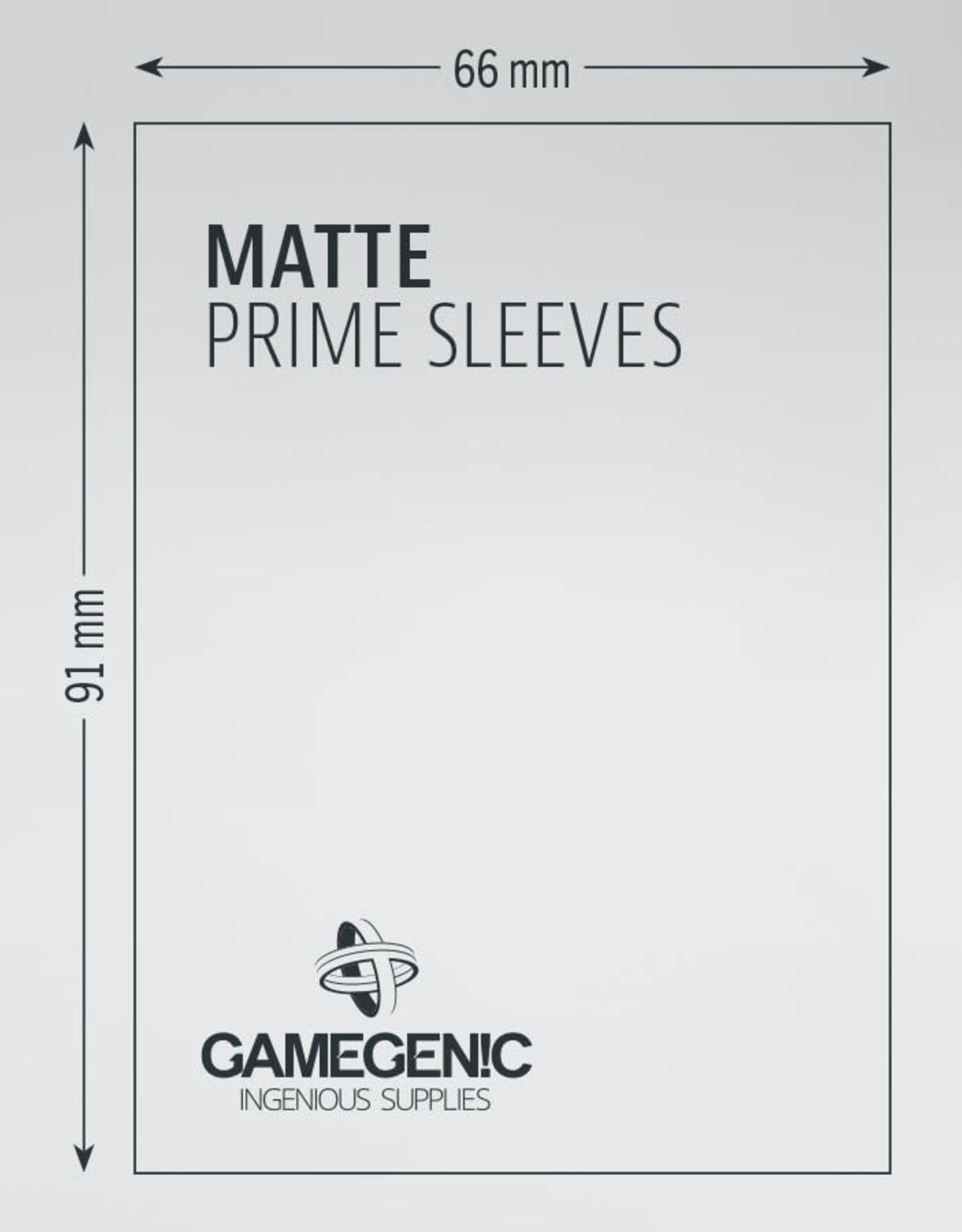 Sleeves: Matte Prime (100) Black