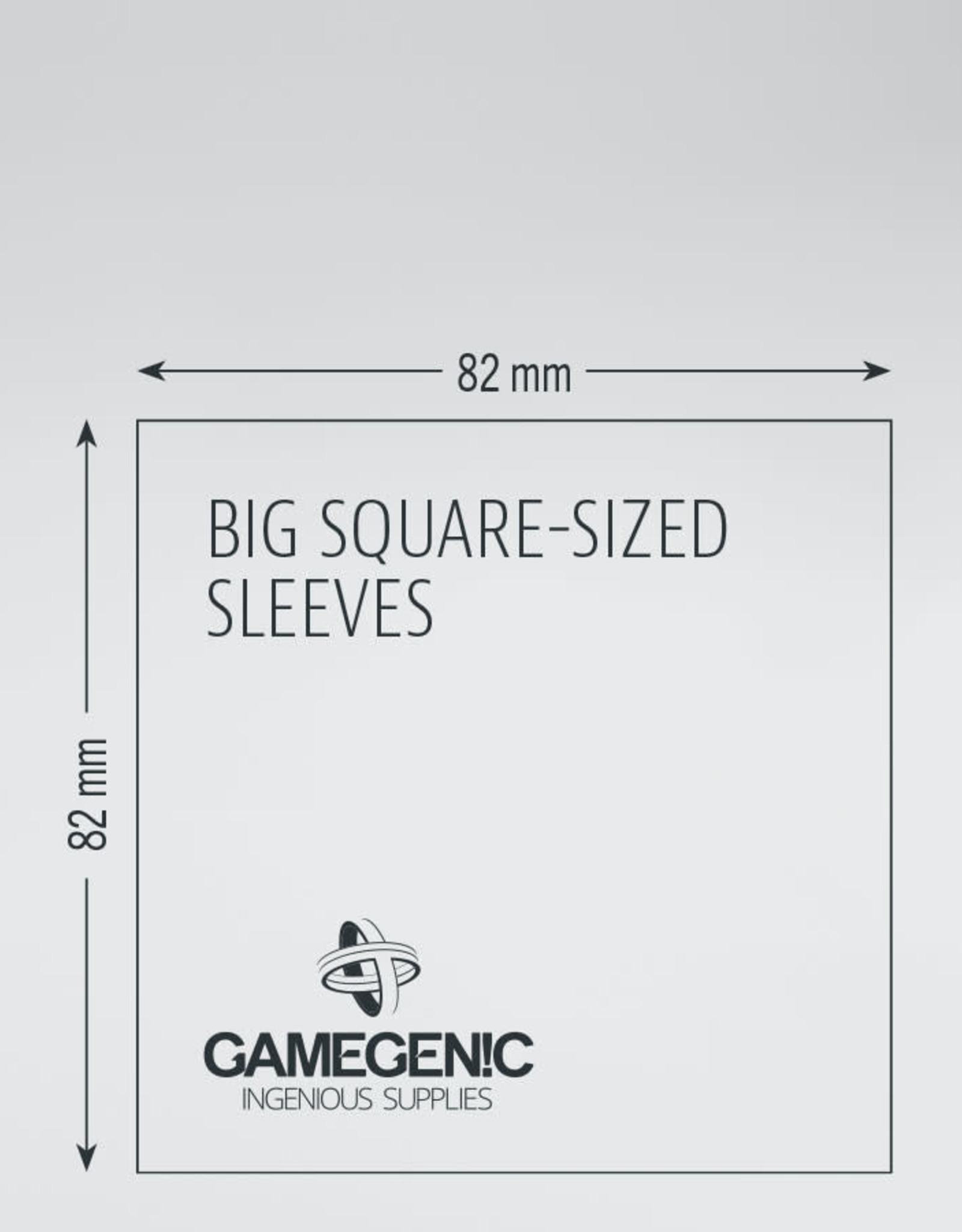 Prime Board Game Sleeves: Big Square-Sized / Werewolves / Jungle Speed 82mm x 82mm (50) (Lime)