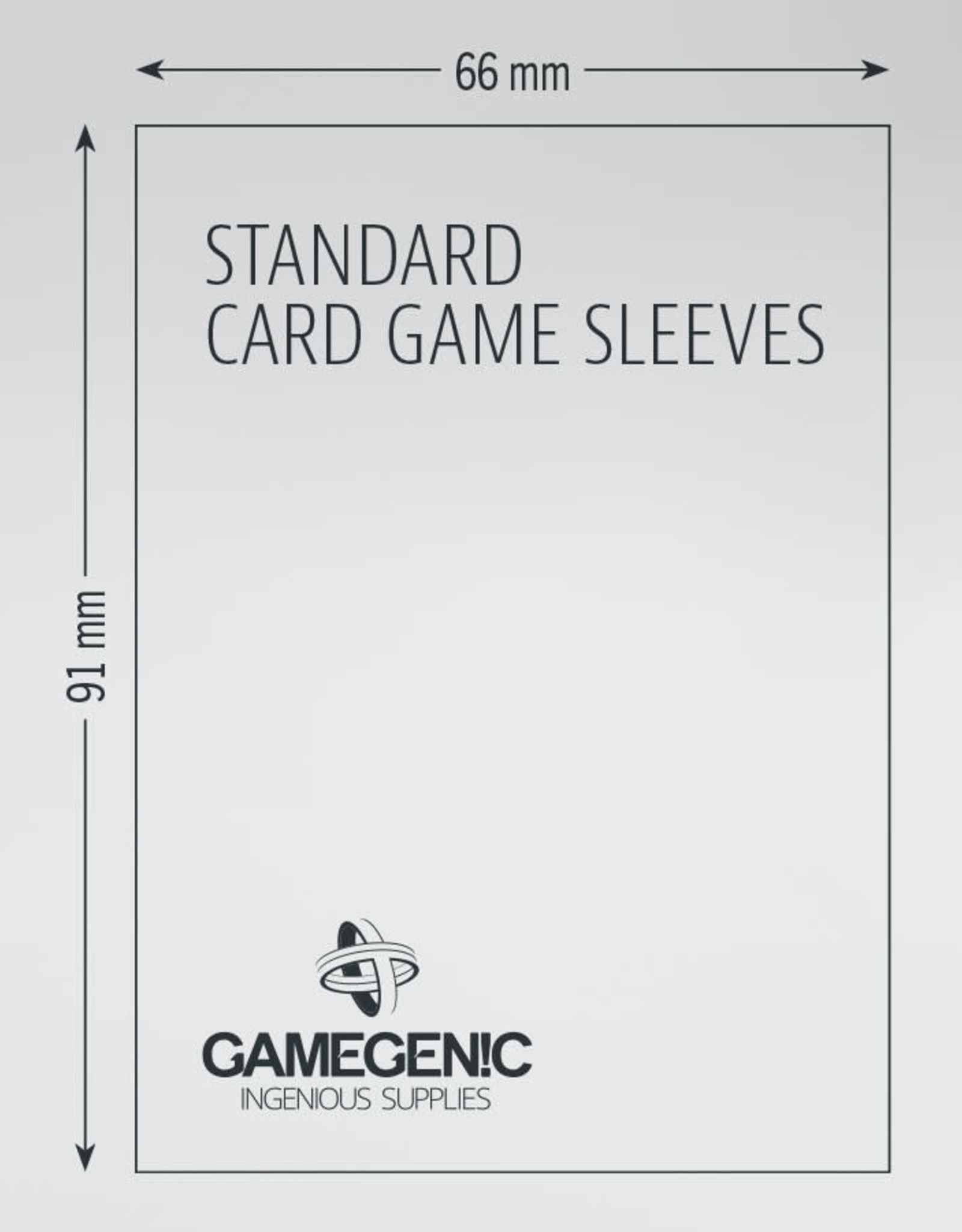 Prime Board Game Sleeves: Standard Card Game Sleeves 66mm x 91mm (50) (Gray)