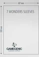 Matte Board Game Sleeves: 7 Wonders (80) (Brown)