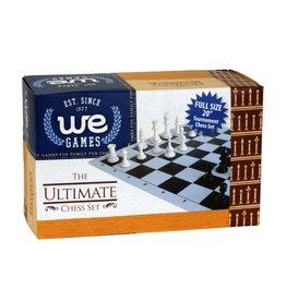 Chess Set: Ultimate Tournament Travel Chess Set Green Board