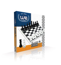 Chess Set: Black and Clear Glass