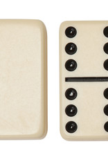 Double Six Dominoes Ivory Tiles, Club Size