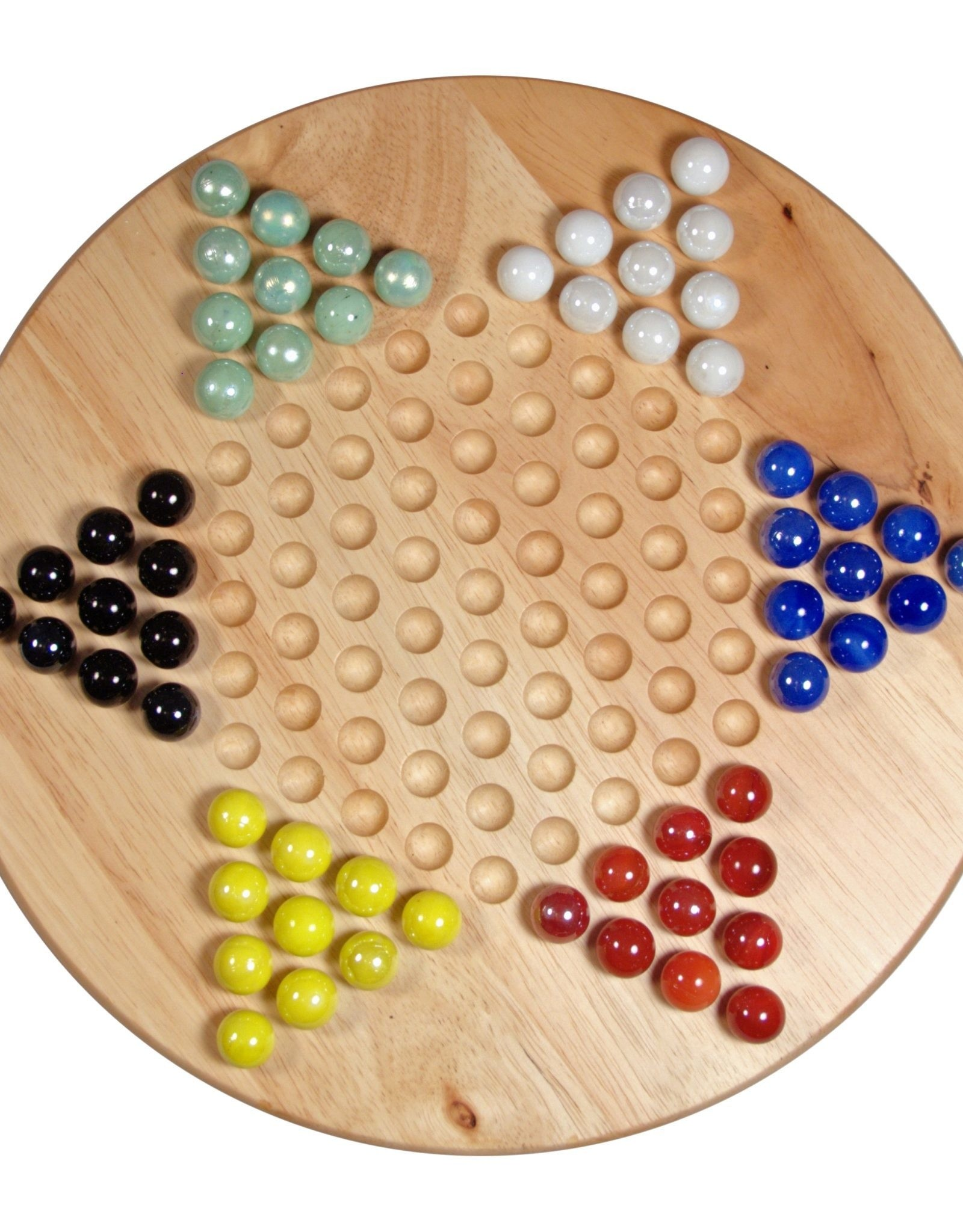 Chinese Checkers Set with Glass Marbles 11.5 Inch