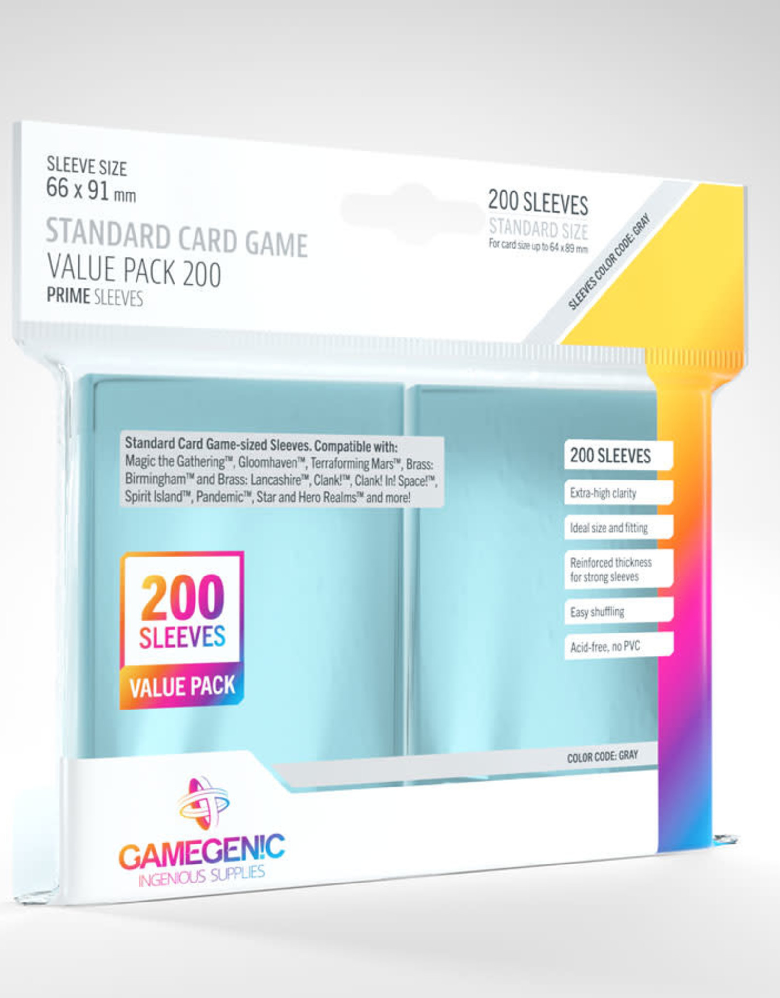 Standard Card Game Value Pack (200) Clear